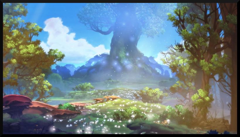 Der blühende Wald nach seiner Wiederherstellung