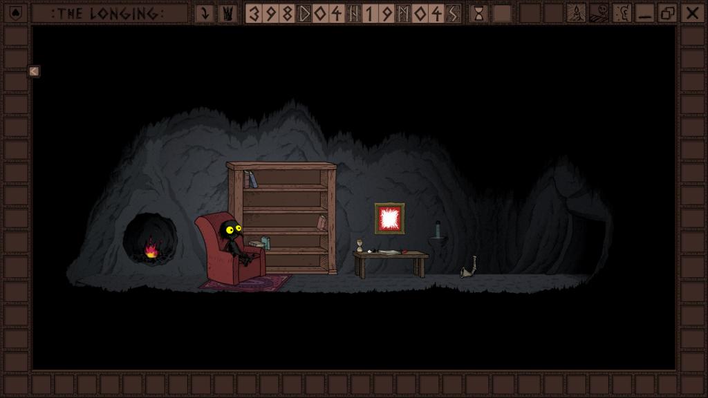 Das Bild zeigt die Behausung des Protagonisten von The Longing. Es handelt sich um eine karg eingerichtete Höhle.